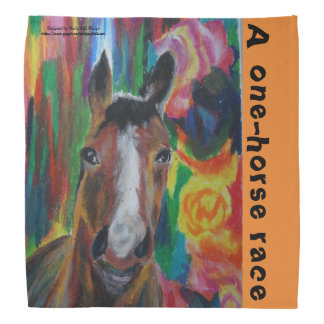 America's wild horse oil pastel bandana
