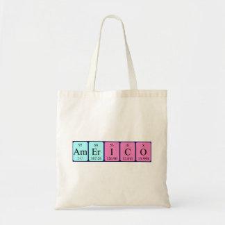 Americo periodic table name tote bag