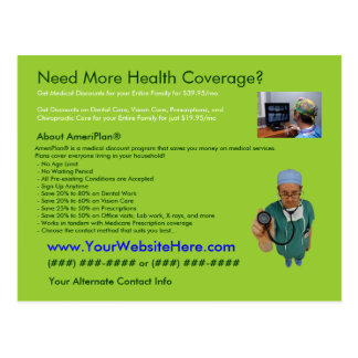 AmeriPlan Health Coverage Postcard