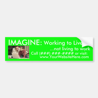 AmeriPlan® Working to Live Bumper Sticker