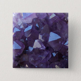 Amethyst 15 Cm Square Badge