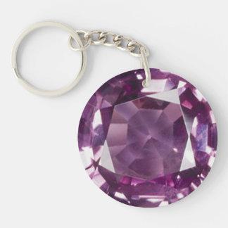 Amethyst 2 key ring