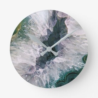 Amethyst Abstract Round Clock