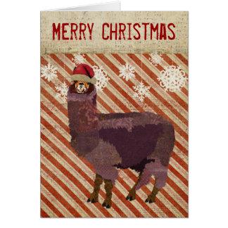 Amethyst Alpaca Christmas Card
