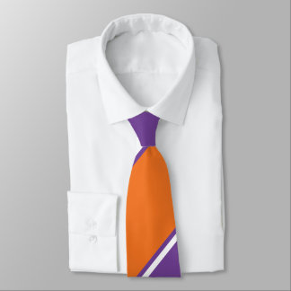 Amethyst and Orange Sugar Diagonally-Striped Tie