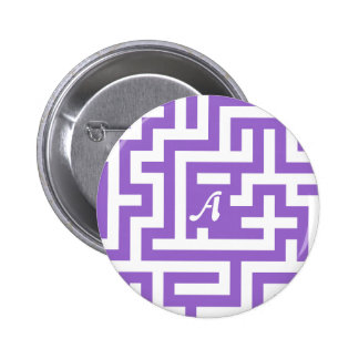 Amethyst and White Maze Monogram Pins