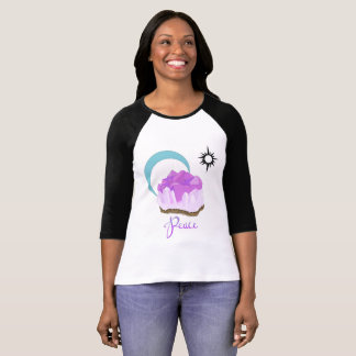Amethyst Bella+Canvas 3/4 Sleeve Raglan T-Shirt