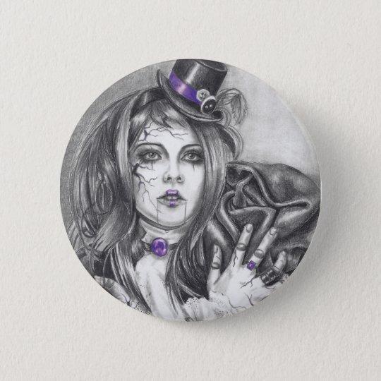 Amethyst Birthstone Broken Doll Button Lapel Pin