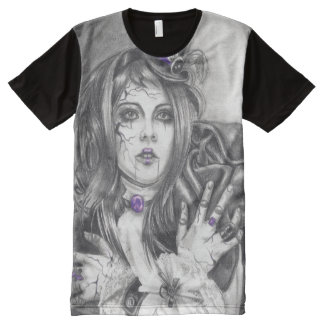 Amethyst Birthstone Broken Doll Mens T-shirt