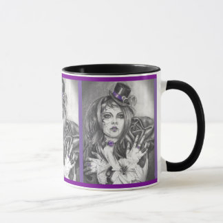 Amethyst Birthstone Broken Doll Mug Coffee Cup