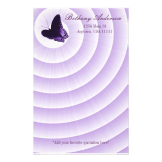 Amethyst Butterfly Stationery