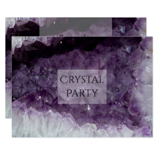 Amethyst Cave Crystal Party Card