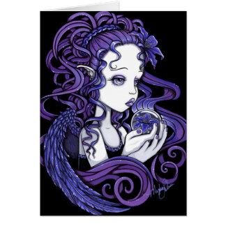"""""""Amethyst"""" Crystal Ball Angel Art Card"""