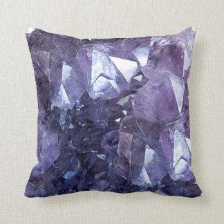 Amethyst Crystal Cluster Cushion