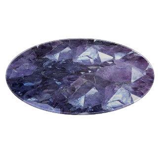 Amethyst Crystal Cluster Cutting Board