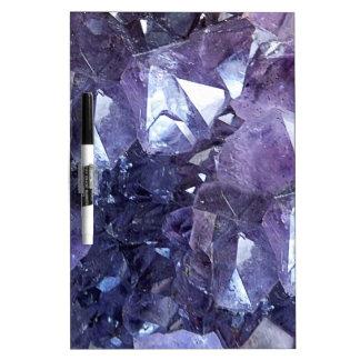 Amethyst Crystal Cluster Dry Erase Board