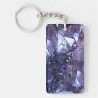 Amethyst Crystal Cluster Key Ring