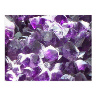 Amethyst Crystal Post Card
