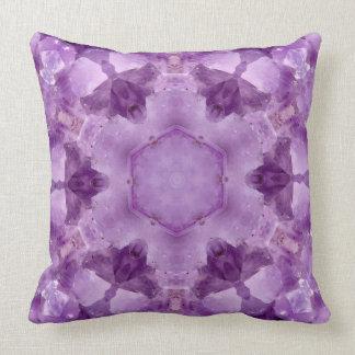 Amethyst Crystal Throw Pillow