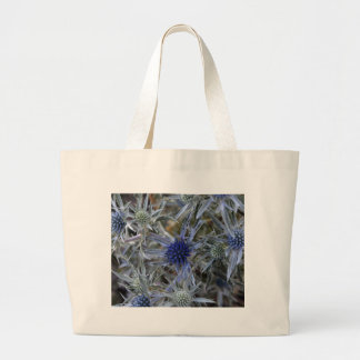 Amethyst eryngo (Eryngium amethystinum) Large Tote Bag