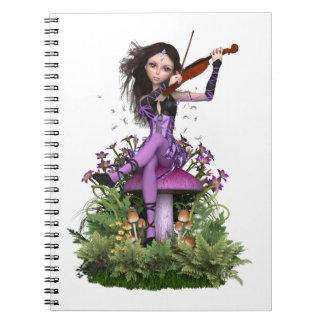 Amethyst Fairy ~ Sweet Melody Spiral Notebook