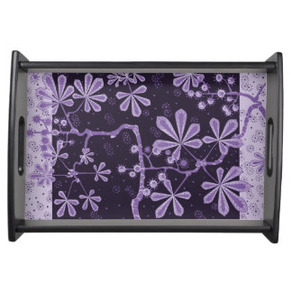 Amethyst Frost Flower Small Serving Tray