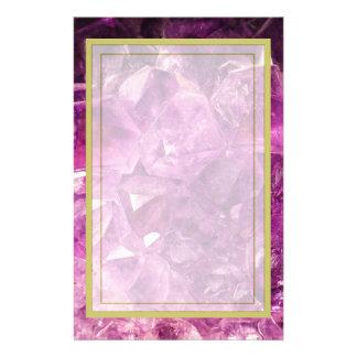 Amethyst Gemstone Image Shiny and Sparkly Personalized Stationery