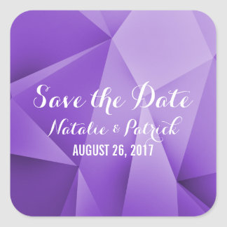 Amethyst Jewel Tones Save the Date Stickers
