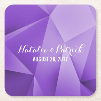 Amethyst Jewel Tones Wedding Paper Coasters