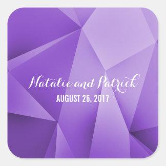 Amethyst Jewel Tones Wedding Stickers