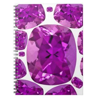 Amethyst Jewels Birthstone  by Sharles Notebook