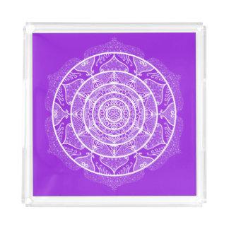 Amethyst Mandala Acrylic Tray