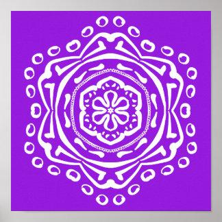 Amethyst Mandala Poster