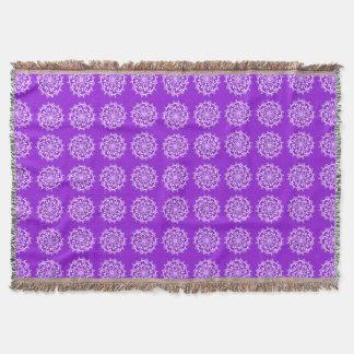Amethyst Mandala Throw Blanket