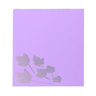 Amethyst Maple Leaves Faux Bas Relief Notepad