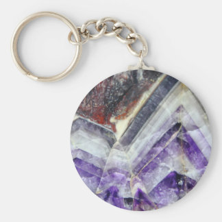 Amethyst Mountain Quartz Key Ring