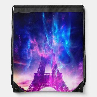 Amethyst Parisian Dreams Drawstring Bag