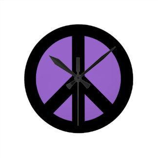 Amethyst Peace Sign Wall Clock