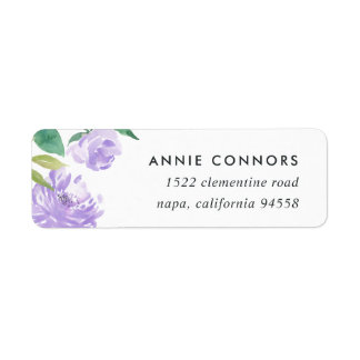 Amethyst Peony | Return Address Labels