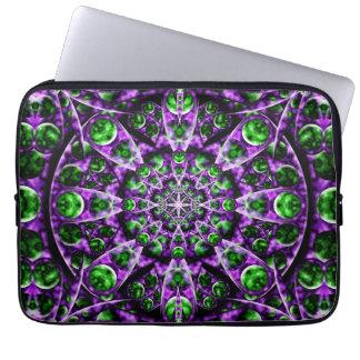 Amethyst Portal Mandala Laptop Computer Sleeve