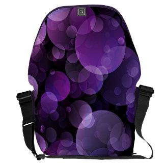 Amethyst Purple Abstract Bokeh Messenger Bag