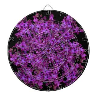 Amethyst Purple Abstract Hyacinth Black Floral Dartboard
