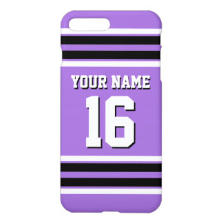 Amethyst Purple Blk Team Jersey Custom Number Name iPhone 7 Plus Case