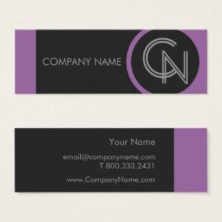 Amethyst Purple Bold Mini Business Card