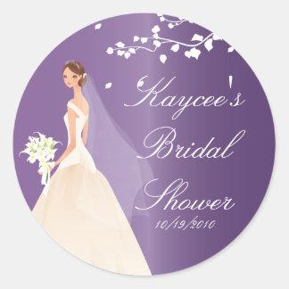Amethyst Purple Bride Bridal Shower Sticker