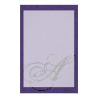 Amethyst Purple Color Velvet Custom Home Casino Stationery Design