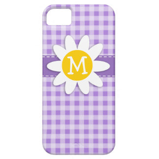Amethyst Purple Gingham; Daisy iPhone 5 Covers