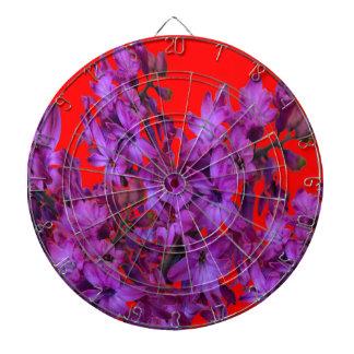 Amethyst Purple  Hyacinth RED Floral gift Dartboard