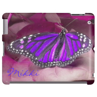 Amethyst Purple Monarch Butterfly iPad case