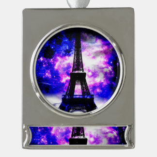 Amethyst Rose Parisian Dreams Silver Plated Banner Ornament